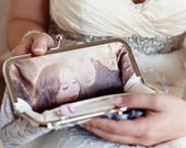 Personalized Photo Clutch Bridal Clutch Bag | Bridesmaids, Mother of the Bride and Groom Gift |  Personalization only