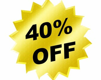 STORE CLOSING Sale! Use coupon code FAC40 for 40% off of your order! (Do not purchase this listing)