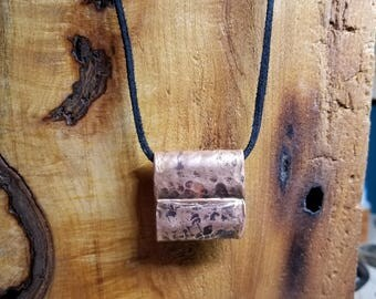 Upcycled copper necklace