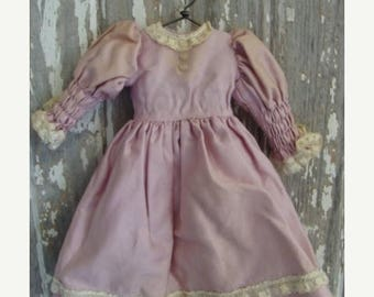 ONSALE Gorgeous Lilac Pastel Vintage Handmade Doll Dress 081