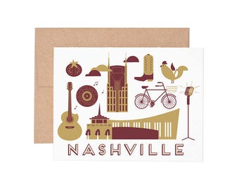 Boxed Cards - Nashville Letterpress Greeting Cards - Boxed Set | Blank Cards | All Occassion
