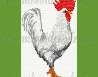 Rooster Chicken Farm 01 Machine Embroidery Designs 4x4 Hoop Instant Download pes, hus, jef, vip, vp3, dst, xxx, exp