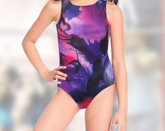 Gymnastics Leotard for Girls - abstract design - NEW leo  - 12 sizes available