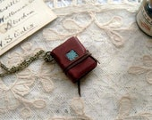 Mini Memoirs - Miniature Wearable Book, Hand Stitched, Recycled - OOAK