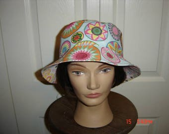 "Reversible African Print Bucket Hat  22""   Free Shipping"