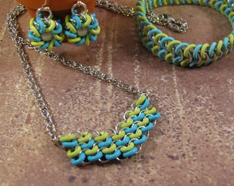 Learn Chain Maille - European 4 in 1 Learning Kits - Silver, Turquoise & Kiwi (choose kit)