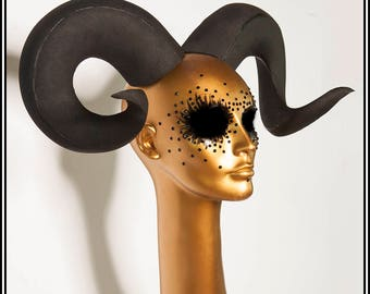 Small Ram Horns... DIY Craft Material Vegan Horns EVA Foam Fabrication Lightweight Handmade
