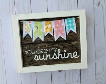 You are my sunshine sign with Mumlicreates banner