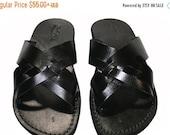 15% OFF Black Capri Leather Sandals For Men & Women - Handmade Sandals, Leather Flip Flops, Jesus Sandals, Unisex Sandals, Black Leather San
