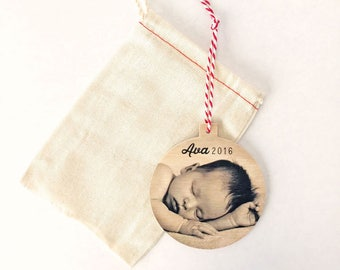 Custom Christmas ornament,Baby First Christmas Ornament Personalized,Natural Christmas Ornament Personalized