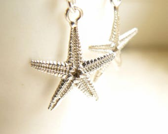Sterling Silver Starfish Earrings,