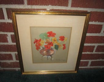 Dated 1940 Original Framed Still Life Oil Painting Signed G.H. Murray
