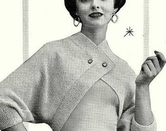 Retro Shrug Sweater Knitting Pattern 726081