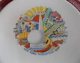 Vintage New York Worlds Fair 1940 Plate Trylon Perisphere