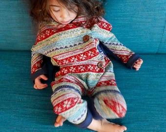 Toddler Baby Girl Boy Winter Romper Jumpsuit|Long Sleeve Romper|Harem Romper|Unisex Romper|Child Winter Clothes|Hipster Clothes|Navy Romper