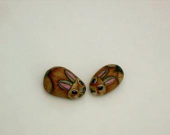 Brown bunny rabbit-ooak miniature terrarium decor-desktop dishgarden accessory-fairy garden miniatures-one inch scale dollhouse miniatures