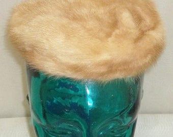 SUMMER SALE Vintage Best & Co. New York Mink Fur Keller's Brown Pillbox Hat