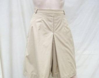SALE 60s Khaki Culottes size Small Extra Small Split Skirt Tan Skort