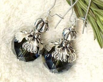 Earrings LOTUS flower Crystal Bohemian OR305 Wetsand ♥ ♥