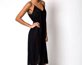 40% OFF CLEARANCE SALE The Vintage Black Sheer Cover Up Dress
