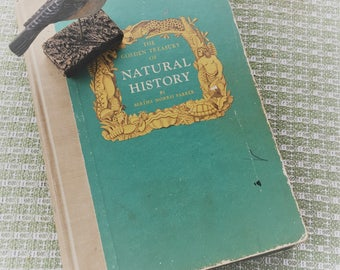 The Golden Treasury of Natural History Vintage Book 1952