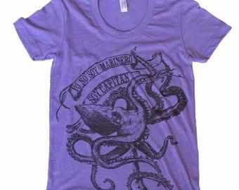 SUMMER SALE LA Bamba Octopus T Shirt -  Womens T Shirt, Ladies Tee, Tri Blend Tee, Handmade graphic tee, sizes s-xL