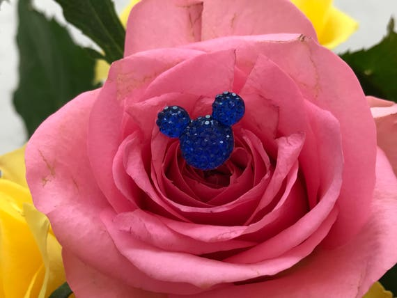 Disney Wedding-FREE SHIP-12  Hidden Mickeys  Bouquets- Royal Blue Floral Pins-Flower Picks-Corsage Pins