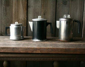 Camp Coffee Pot Your Choice Vintage From Nowvintage on Etsy