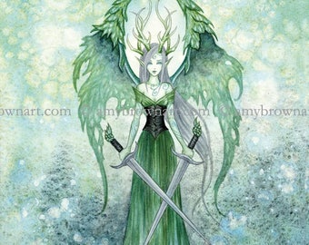 8X10 Vengeance fairy PRINT by Amy Brown