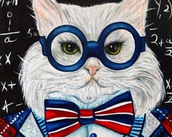 Cat Print, Cat Art, Cats n Cloths Art, Animal Print, Cats,