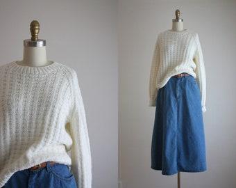 white raglan sweater