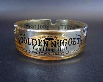 Vintage Ashtray from: Golden Nugget, Las Vegas. Circa 1950's - 1960's.