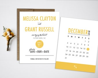 Modern Save the Date Postcard Wedding Save the Date  Wedding Invitation Modern Wedding Save the Date Modern typographic simple invitation