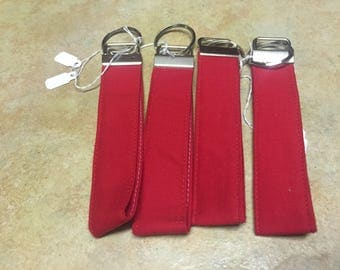 Laminated fabric key fob lanyard