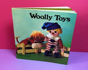 Leisure Crafts - Book 67 - Woolly Toys - Vintage Crafts - Knitting - Craft Book - Craft Guide - 1970s - Vintage Toys - Hobbies