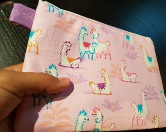 Alpaca / Llama Handbag /Cosmetic Bag