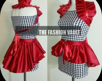 Red bustle skirt and collar bolero shrug Cosplay
