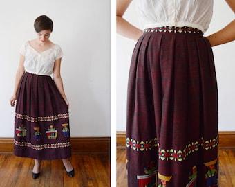 1970s Guatemalan Maxi Skirt - XS