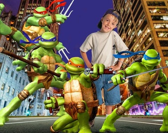 Teenage Mutant Ninja Turtles - 3D PSD Photo Template