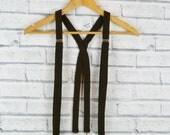 Tweed Braces/Suspenders - Dark Brown Twill Yorkshire Tweed