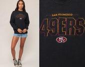 49ers Sweatshirt FOOTBALL Sweatshirt San Francisco Baggy NFL California Black Jumper Graphic 90s Sports Vintage Small