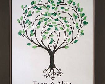 Heartsong Thumbprint Tree for up to 50 Guests