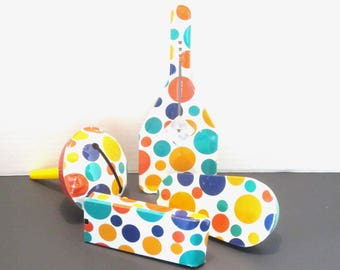 Colorful vintage noisemakers - Set of Four matching