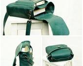 SALE SALE green leather bag, messenger, woodland forest green leather bag, crossbody, business office bag, work bag, SPRING Summer,mothers g