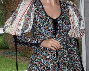 Rare Gunne Sax Dress 'The Beginning of the Boho' Large Vintage