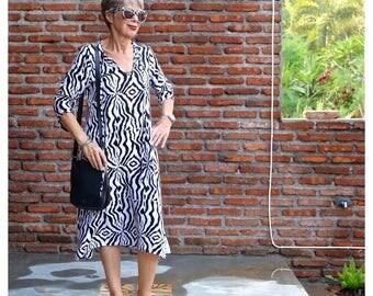 BATIK, Caftan Dress, Kadek, Size 4-14, Choice of Hand Printed Fabrics, Rayon