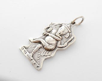 Bali Sterling Silver Lord Ganesha Pendant / silver 925 / Amulet good luck and prosperity / (#798m)