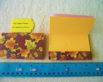 "6 - 4""x4.5"" -MATCHBOOK NOTEPADS -Autumn Leaves"