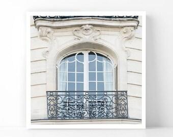 Paris Photography - Romantic Balcony, 5x5 Paris Fine Art Photograph, French Home Decor, Wall Art, Paris Gallery Wall