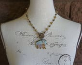 Rustic Gipsy Wagon Pendant Necklace, a Custom Listing for Karen